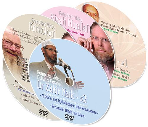 dvd kompilasi video debat, kisah-kisah Muallaf, ceramah Islam, Ceramah